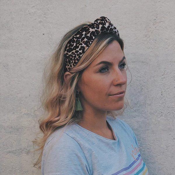 Leopard Velvet Top Knot Headband