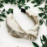 Pearl Velvet Top Knot Headband