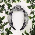 Silver Velvet Dixie Top Knot Headband