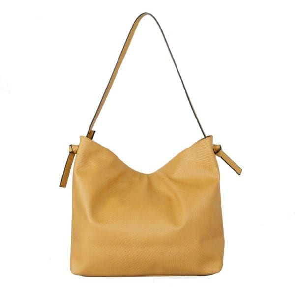 Yellow Panel Effect Shopper Bag