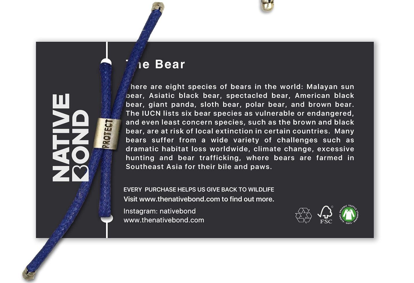 B-O-L-D Bear Bracelet