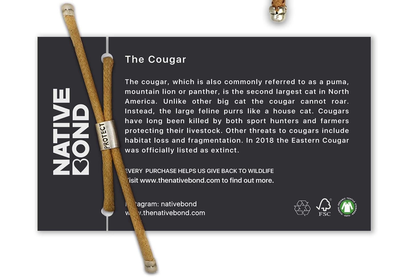B-O-L-D Cougar Bracelet