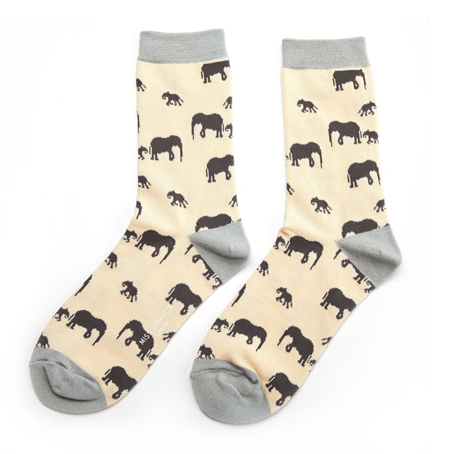 Cream Elephant Socks