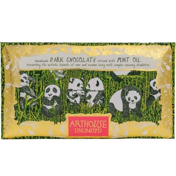 Handmade Dark Chocolate Infused with Mint Oil 1