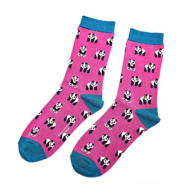 Hot Pink Pandas Socks