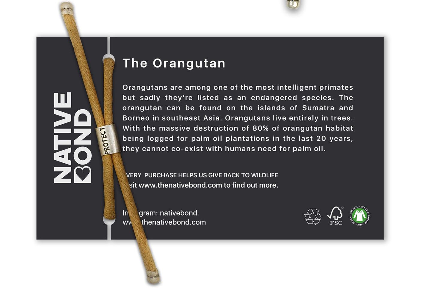B-O-L-D Orangutan Bracelet