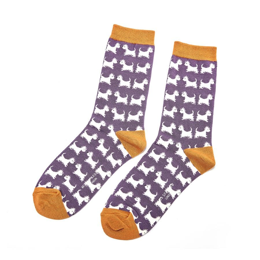 Purple Scottie Dogs Socks