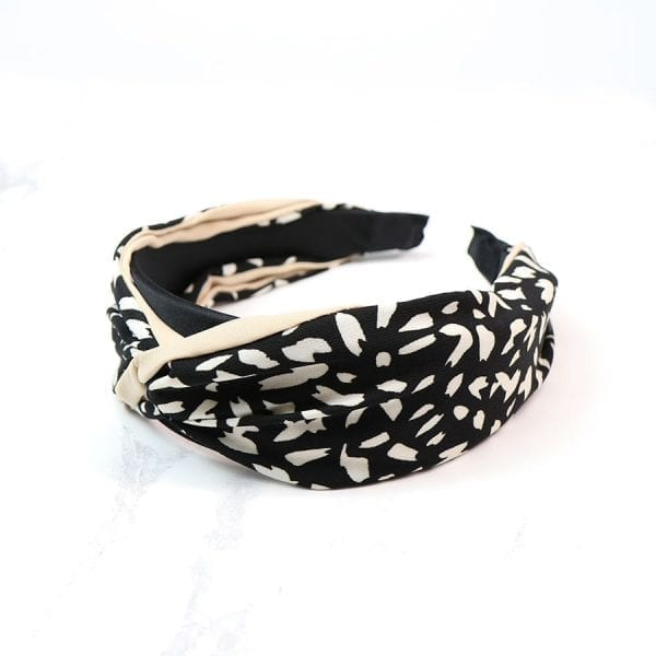 Black Mix Animal Print Headband