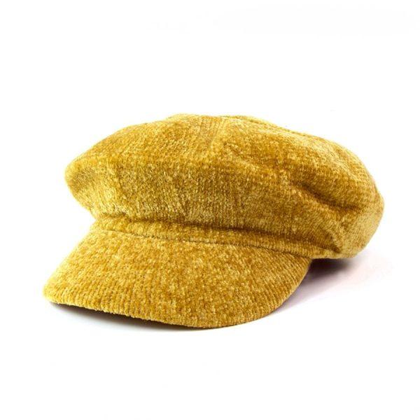 Chenille Baker Boy Hat