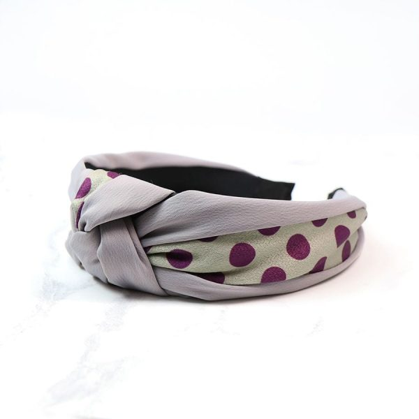 Grey Spotty Print Headband