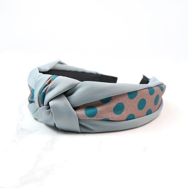 Teal Spotty Print Headband