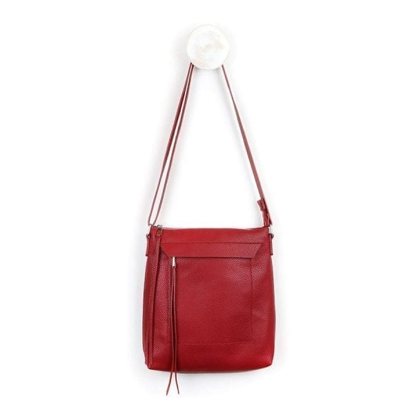 Deep Red Cross Body Bag