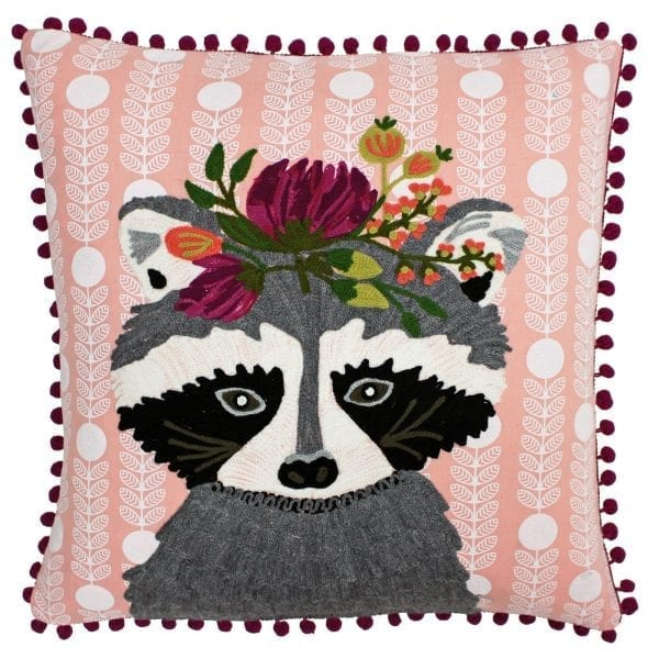 Funky Racoon Cushion