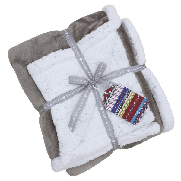 Lux Sherpa Mocha Throw