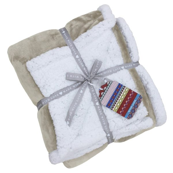 Lux Sherpa Natural Throw