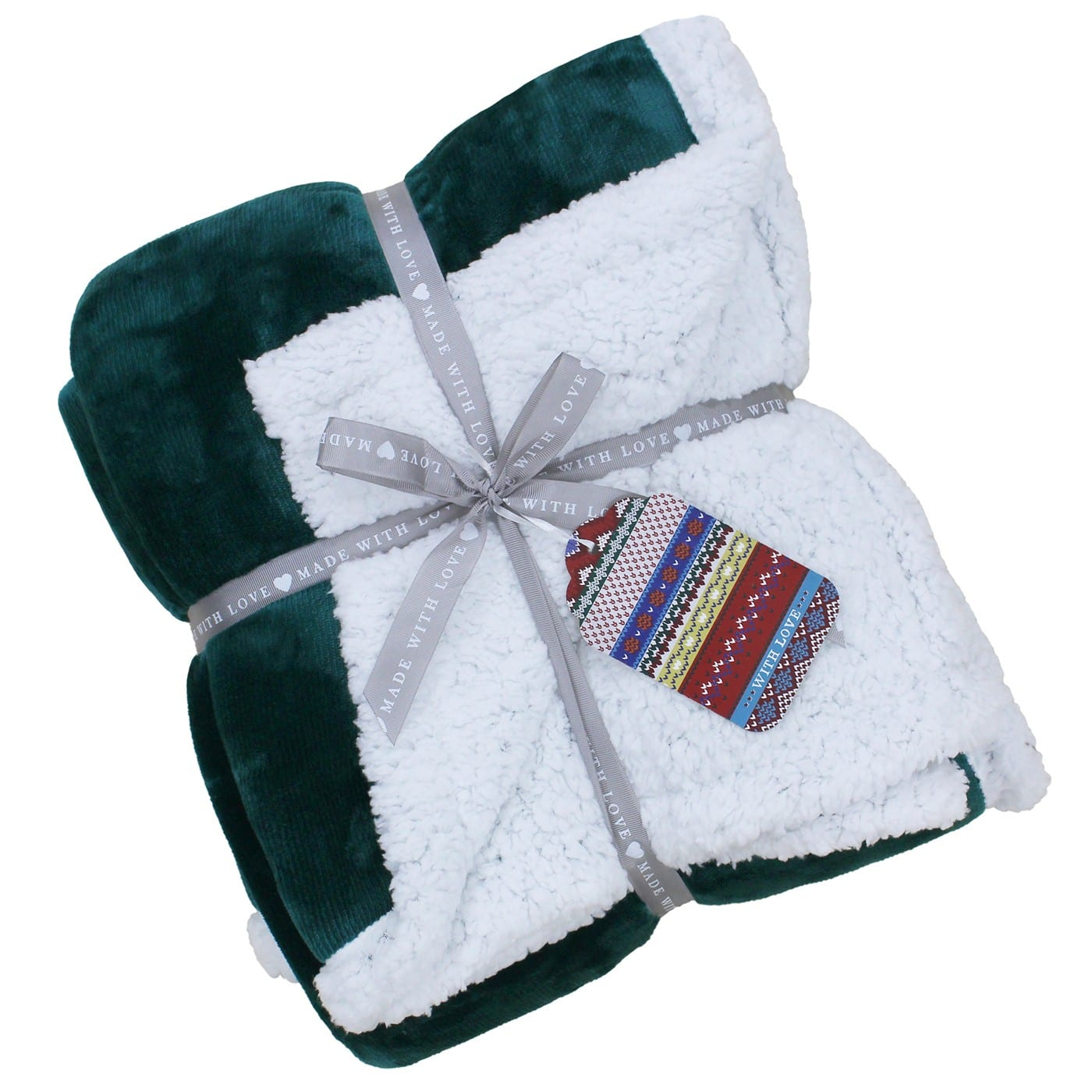 Lux Sherpa Teal Throw