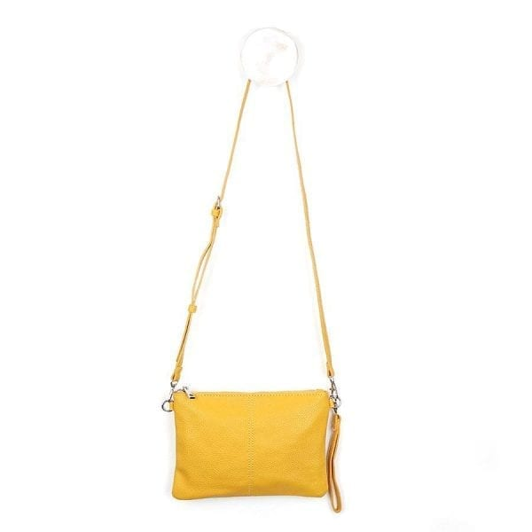 Mustard Convertible Clutch Bag