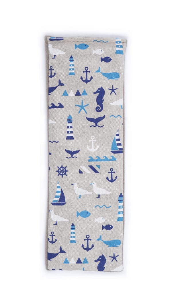 Blue Nautical Lavender Duo Wheat Bag