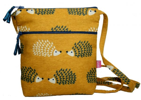 Mustard Hedgehog Cross Body Pouch Purse