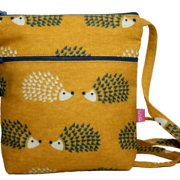 Mustard Hedgehog Cross Body Pouch Purse