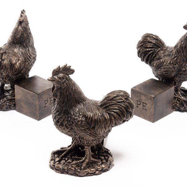 Bronze Chicken Set of 3 2