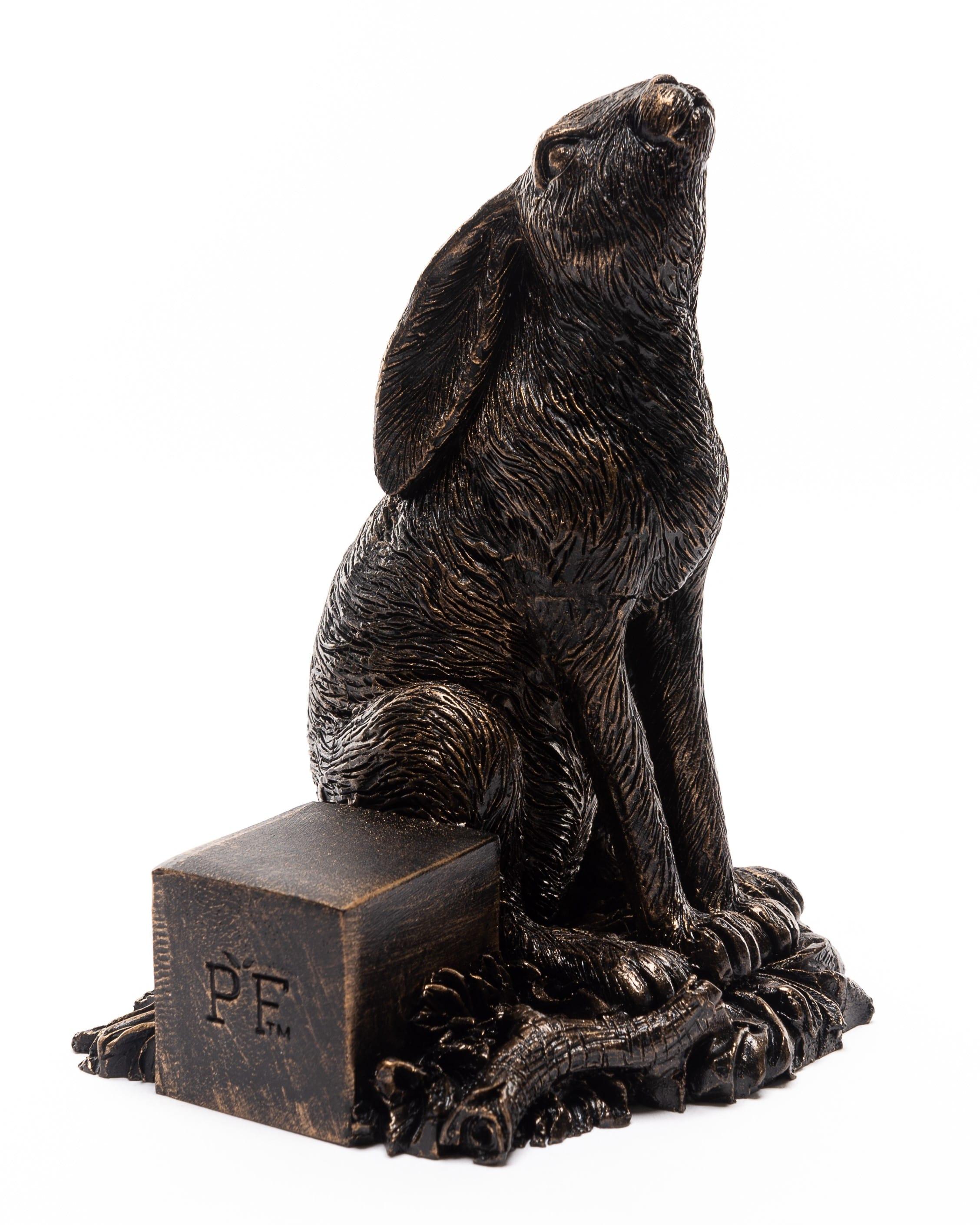 Bronze Moon Gazing Hare Set of 3