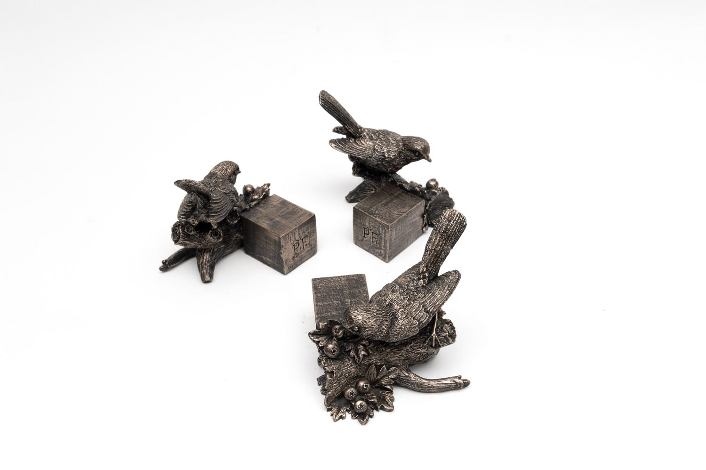 Bronze Robin Set of 3 2