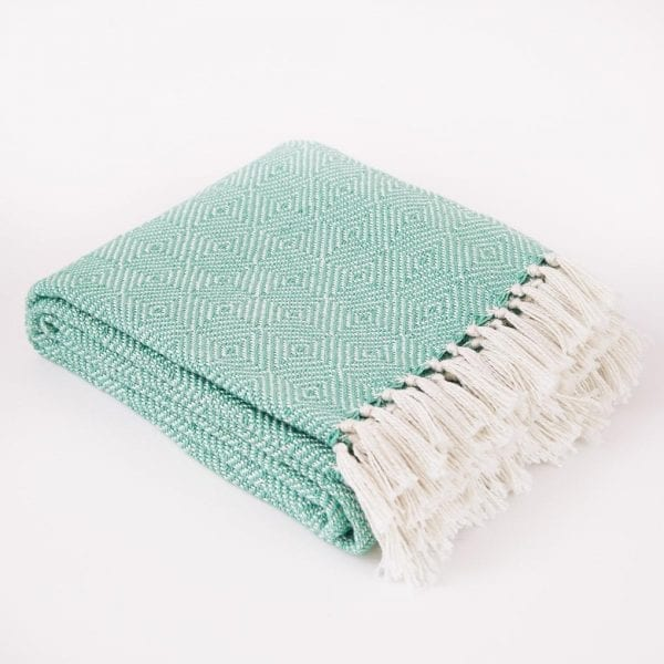Diamond Aqua Blanket