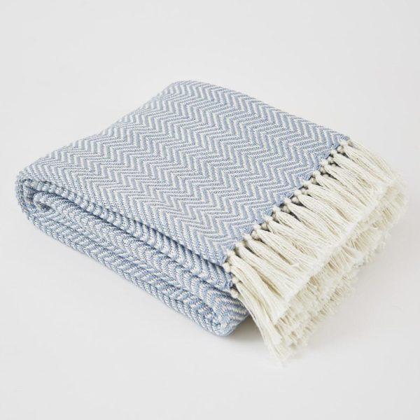 Lavender Herringbone Blanket