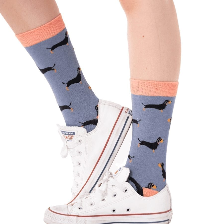 Blue Little Sausage Dogs Socks