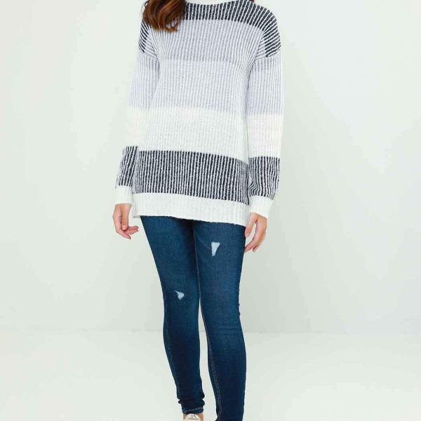 CHARLOTTE COLOUR BLOCK JUMPER