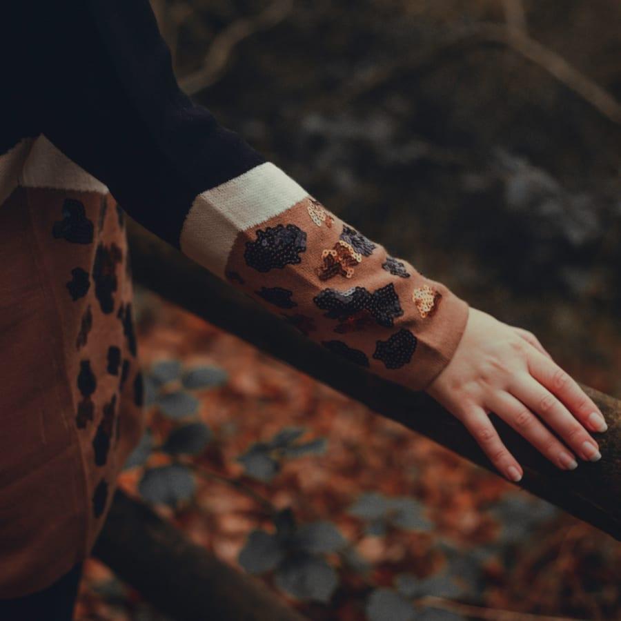 Autumnal Sequin Top 3