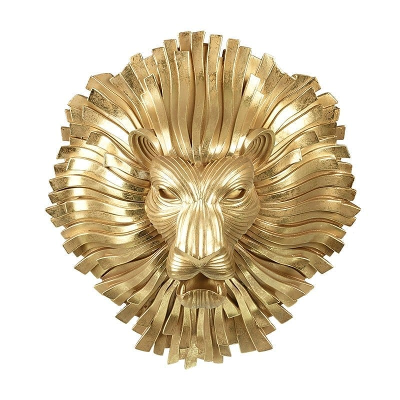 Gold Ribbon Lion Head