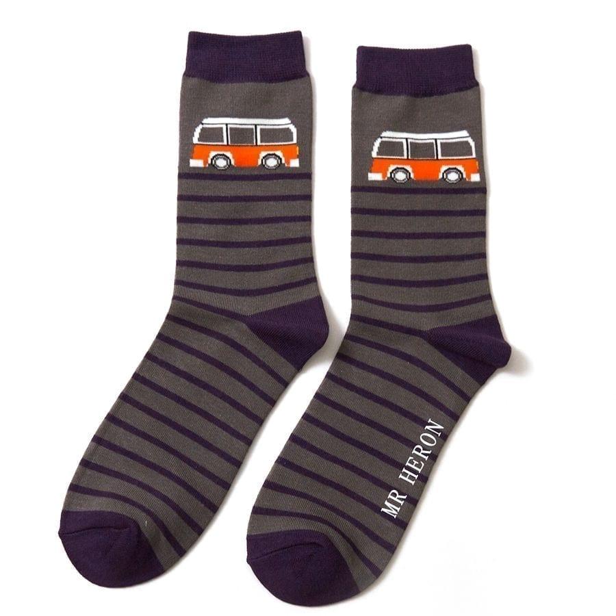Grey Camper Stripe Socks