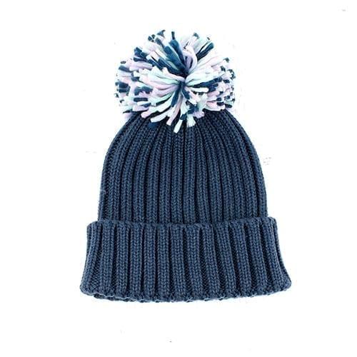 Petrol Blue Pom Pom Hat