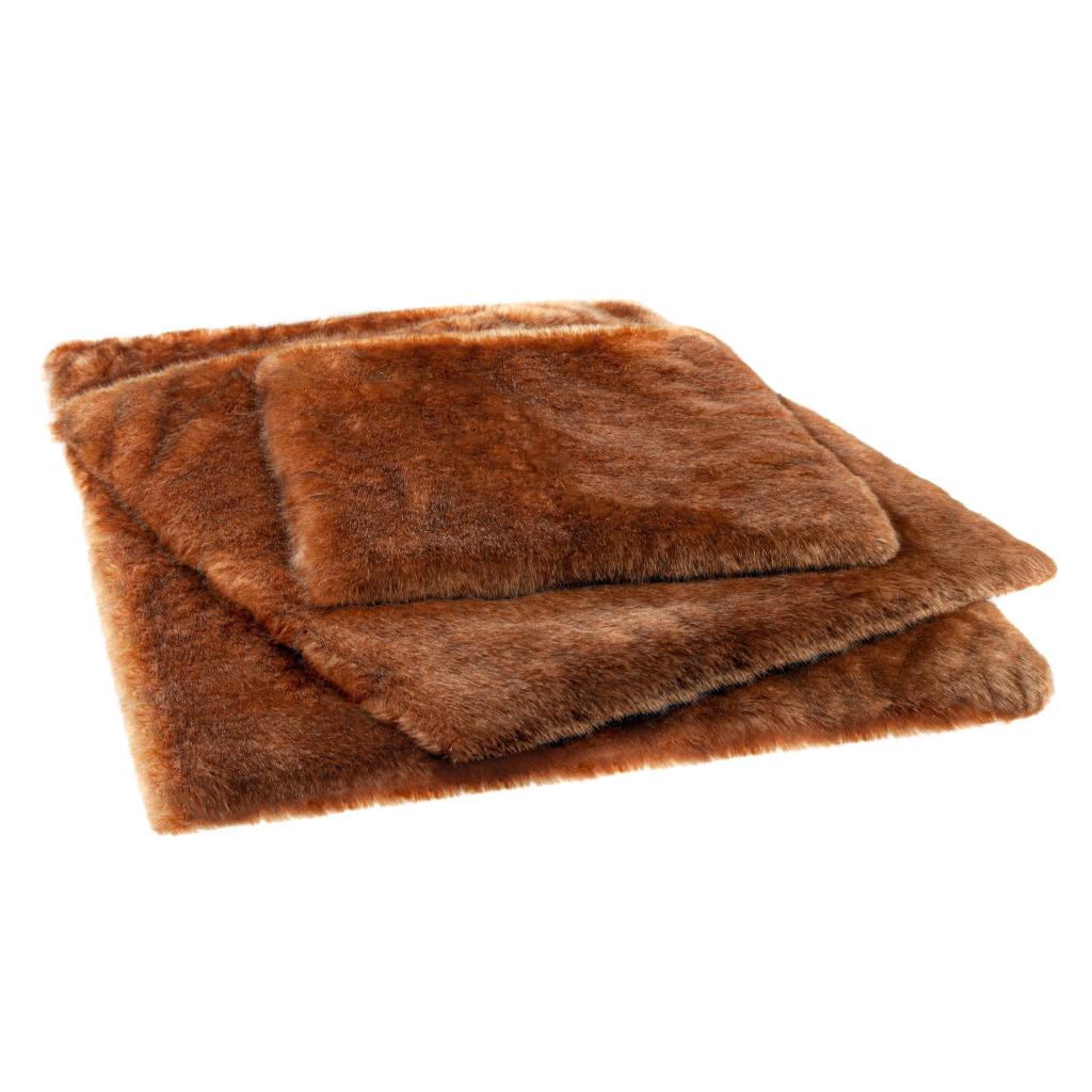 Caramel Faux Fur Pet Mat 2