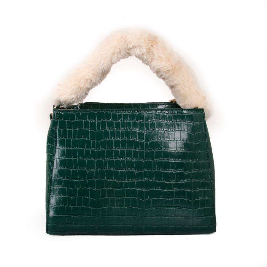 Green Fluffy Handle Grab Bag