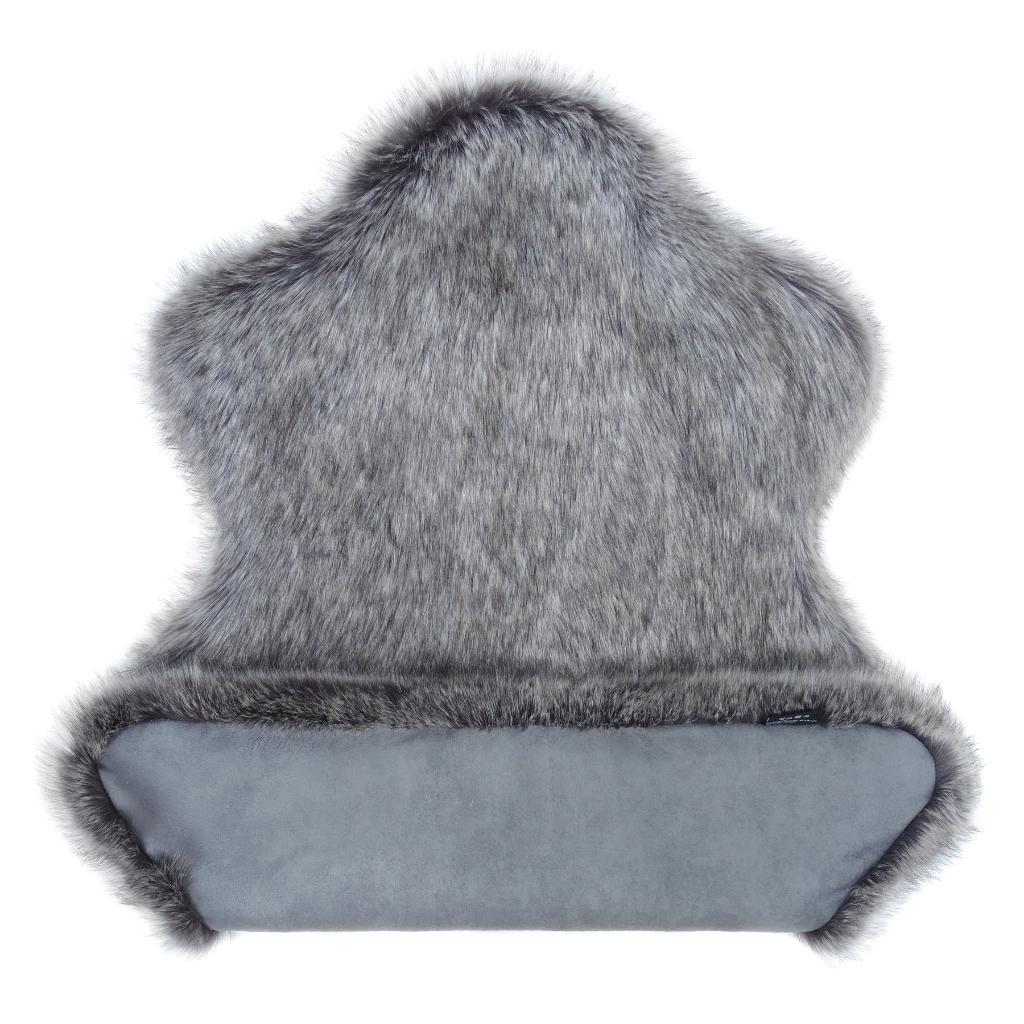 Lady Grey Faux Fur Rug 2