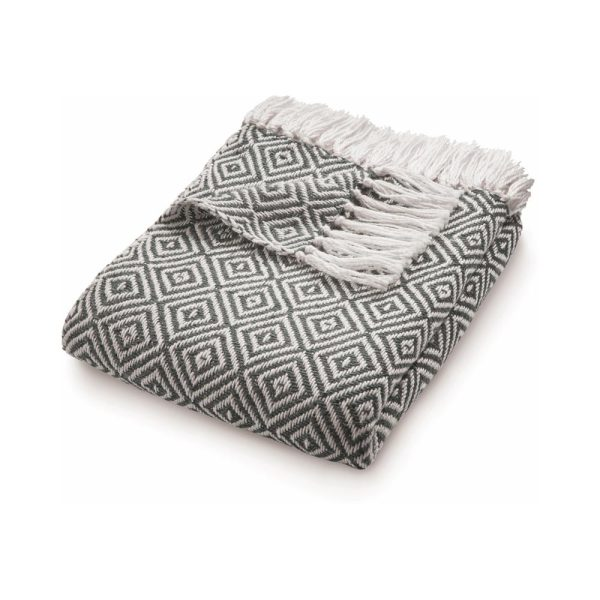 Diamond Warm Grey Throw