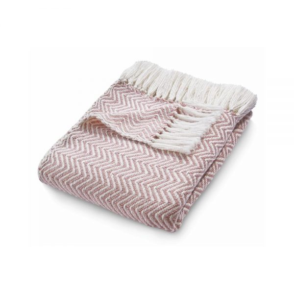 Herringbone Rose Throw