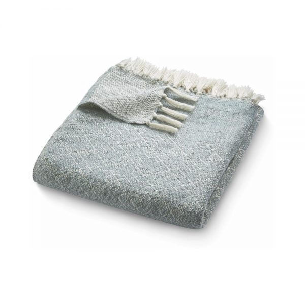Trellis Sky Grey Throw