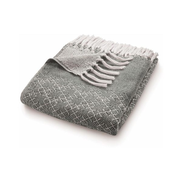 Trellis Warm Grey Throw