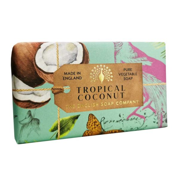 Tropical Coconut Vintage Wrapped Soap