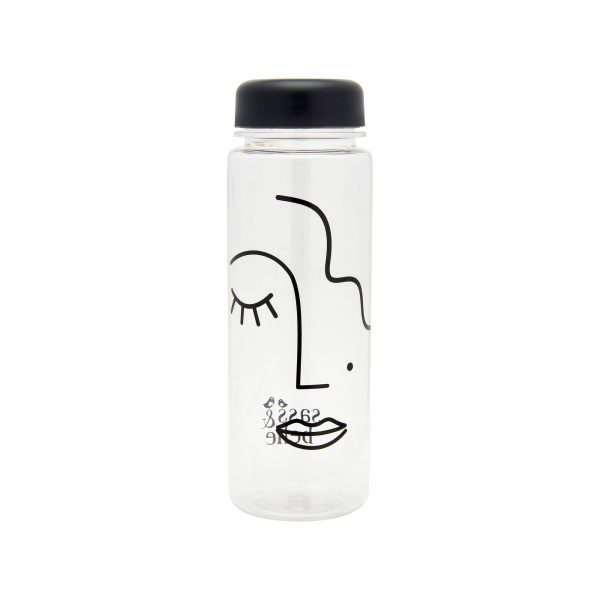 Abstract Face Clear Water Bottle