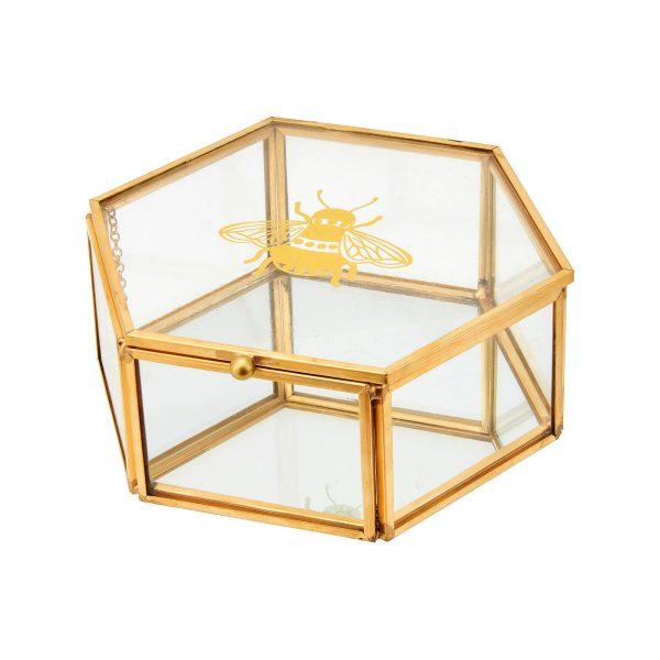 Busy Bee Glass Jewellery Box