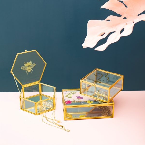 Busy Bee Glass Jewellery Box