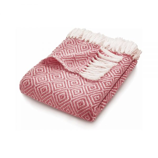 Diamond Pink Throw