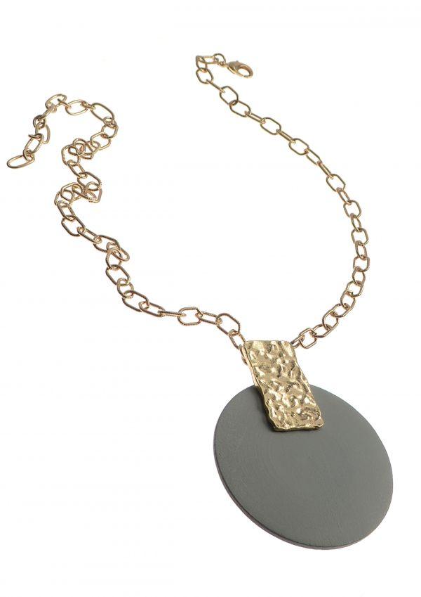 Worn Gold La Lune Pendant Necklace