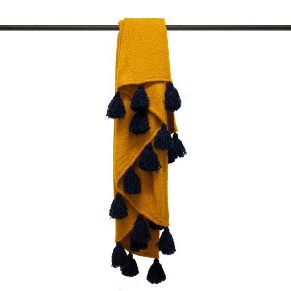 Romilly Gold & Navy Throw