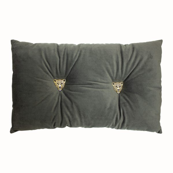 Jewelled Panther Cushion